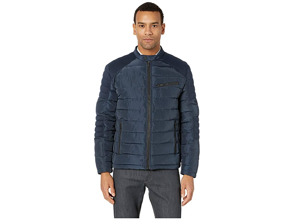 Marc New York by Andrew Marc Packable Moto Jacket (Navy) Men