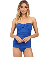 Tommy Bahama - Pearl Shirred Front Bandeau One-Piece