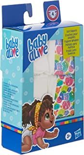 Hasbro Baby Alive Doll Diaper Refill, Includes 4 Diapers, Toys Accessories, for Kids Ages 3 Years Old and Up