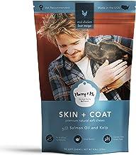 Mazey & Me Skin and Coat Premium Natural Dog Soft Chews   Real Salmon Oil, Kelp, DHA, EPA, Omega 3, 6, 9   for Shiny, Heal...