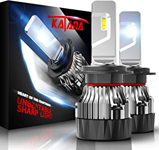 KATANA H7 LED Headlight Bulbs w/Mini Design,4700Lux 10000LM 6500K Cool White CREE Chips All-in-One Conversion Kit