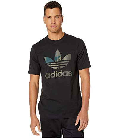 adidas Originals Camo Infill Tee (Black/Multicolor) Men
