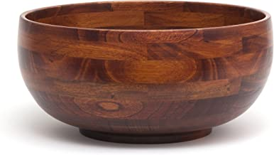 Lipper International 224 Cherry Finished Footed Rice Serving Bowl, Large, 12