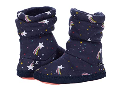 Joules Kids Padabout Boot Slippers (Toddler/Little Kid/Big Kid) (Navy Shooting Star) Girl