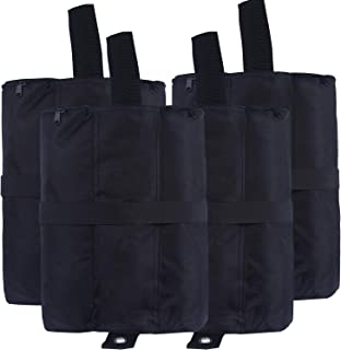 ABCCANOPY Tent Weight Bags, Sand Bag for Canopies, Tents, Awnings - 4-Pack of Weight Bags (Black)