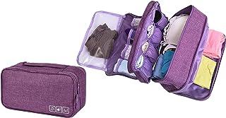 Almacenamiento a Prueba de Agua Bolsa de Viaje Organizador para los Sujetadores, Ropa Interior, artículos, etc. Accessorios de Viaje(Purple)