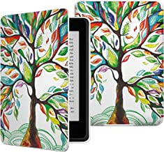 MoKo Case for Kindle Paperwhite, Premium PU Leather Cover with Auto Wake/Sleep Fits All Paperwhite Generations Prior to 2018 (Will not fit All-New Paperwhite 10th Generation), Lucky TREE