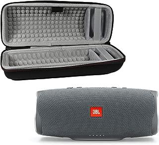 JBL Charge 4 Waterproof Wireless Bluetooth Speaker Bundle with Portable Hard Case - Gray