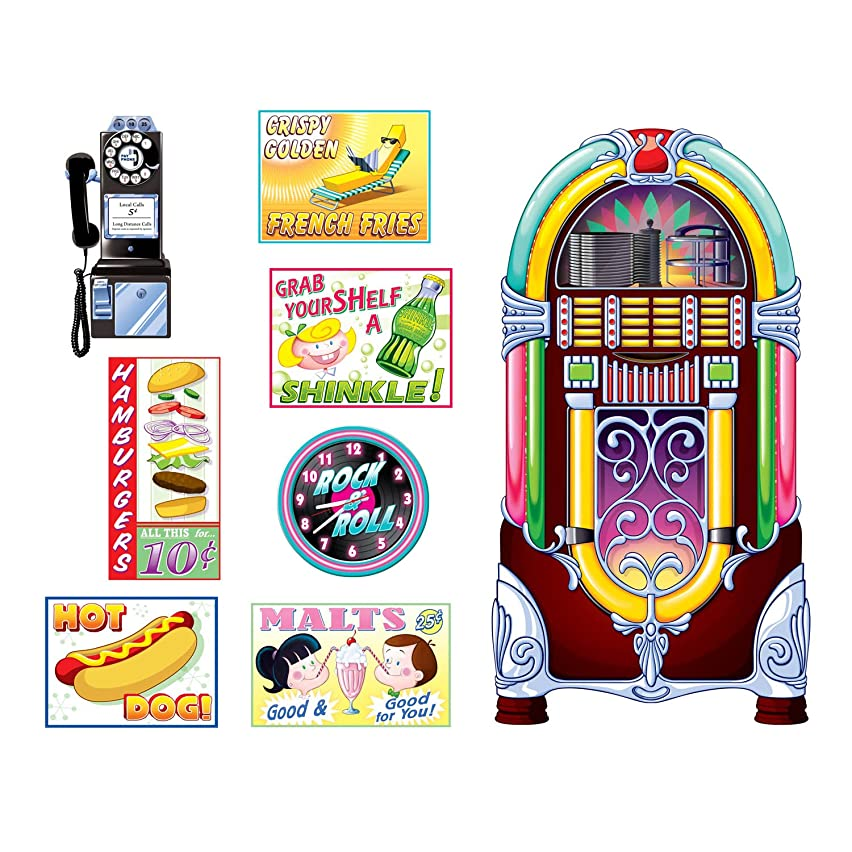 Beistle Soda Shop Signs & Jukebox Props Party Accessory (Value 3-Pack) (8/Pkg)