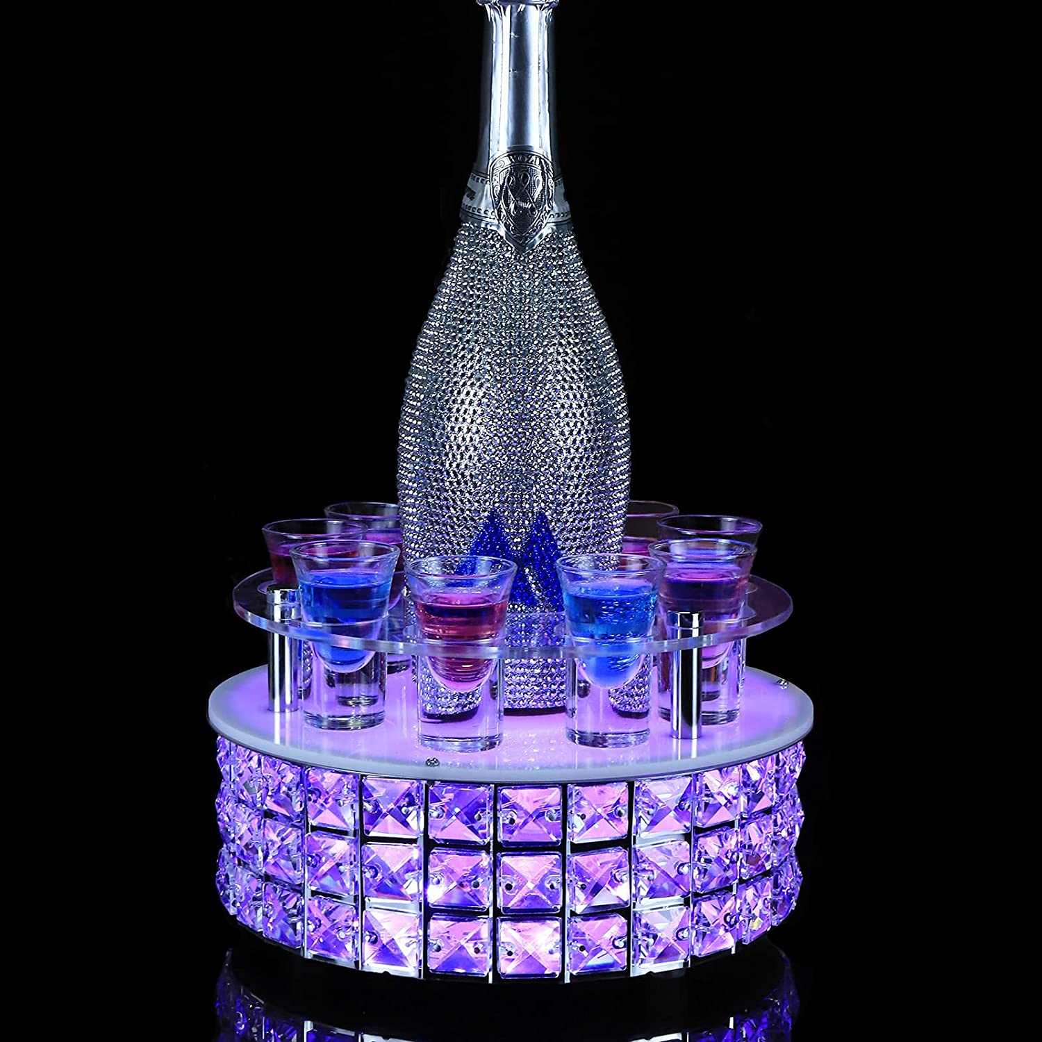Liquor store Don't miss the campaign Display Stand LED Light Shot Bottle G Base