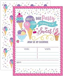 Best ice cream social birthday invitations Reviews