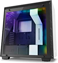 NZXT H700i - ATX Mid-Tower PC Gaming Case - CAM-Powered Smart Device - RGB and Fan Control - Tempered Glass Panel - Enhanced Cable Management System – Water-Cooling Ready - White/Black (Renewed)