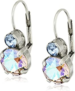 Sorrelli Round Crystal French Wire Drop Earrings