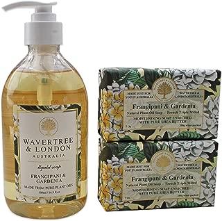 Wavertree & London Frangipani Gardenia - One Liquid soap & 2 Soap Bars