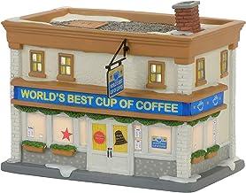 Department 56 Elf Village World's Best Cup of Coffee Shop Lit Building
