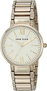 Anne Klein Womens AK/3201 Swarovski Crystal Accented Bracelet Watch