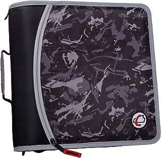 Case-It T641P سَحَّاب Binder، سعة 3 بوصات، مع مبرد موسع 5 علامات تبويب، جيب شبكي بسحاب، حزام للكتف، أسود
