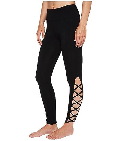Hard Tail X-Side Ankle Leggings (Black) Women