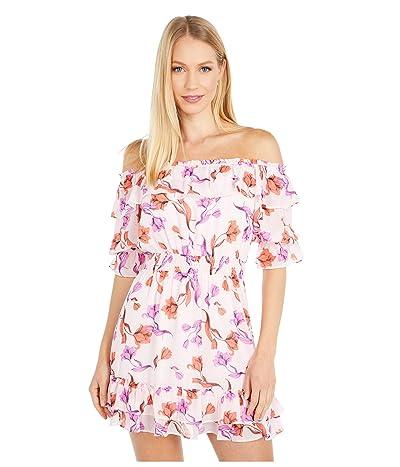 LOST + WANDER Garden Of Delight Mini Dress (Lavender Coral Floral) Women
