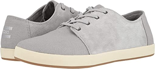 Drizzle Grey Textured Twill/Pig Suede Mix