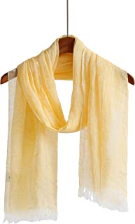 Linen Scarf Scarfs For Women Lightweight Shawl Wrap For Men Summer Solid Color Scarves And Wraps