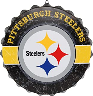 FOCO NFL Team Logo Metal Distressed Bottlecap Wall Sign