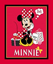 Minnie Mouse with Polka Dot Bow Panel 36 X 44 Inch Cotton Springs Fabric