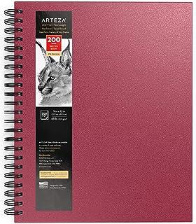 Arteza Skizzenbuch mit Spiralbindung, 22.9×30.5 cm, Skizzenblock in Rosa, 200..