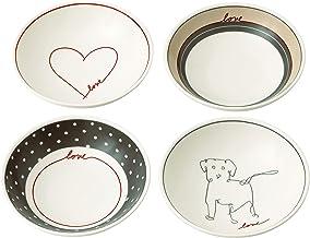 Royal Doulton Gift Set Ellen DeGeneres Signature Accent Bowl 14cm Set of 4, Multicolor, 4