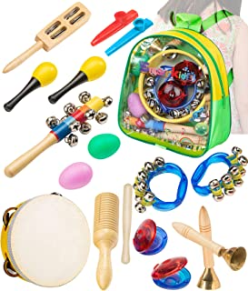 Smarkids Musical Instruments Toddler Toys - Professional Preschool Music Education Toys Percussion Instruments Set Music Early Learning Toys for Boys and Girls with Storage Backpack