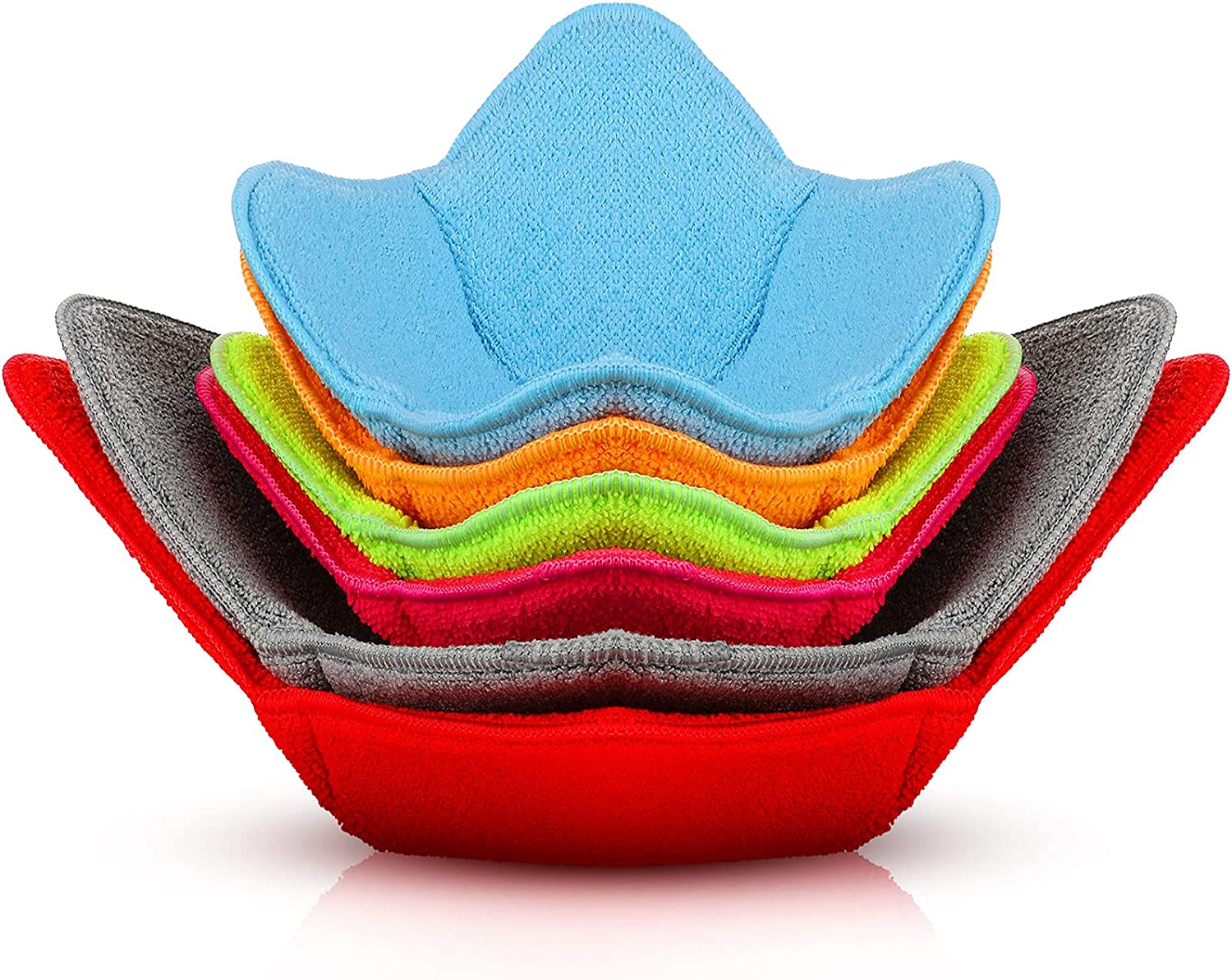 6 Pieces Multi Color Microwave Safe Bowl Huggers Microwave Plate Holder Hot Bowl Holder Microwave Safe Bowl Holder Protect Your Hands from Hot Dishes for Heating Soup
