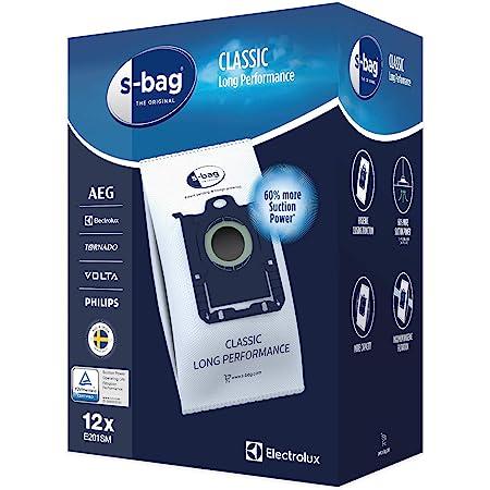 Electrolux - E201SM Sacs aspirateurs s-bag® classic long performance - Boîte de 12