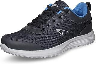 Aqualite Men MESH Dark Grey Sea Blue Running Shoes