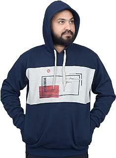 Protonze Blue Color Slim fit Full Sleeve Clothing Men's Cotton Hooded Sweatshirt Winter Hoodie/Graphic Printed Hoodie/Hoodie for Men & Women/Warm Hoodie/Unisex Hoodie