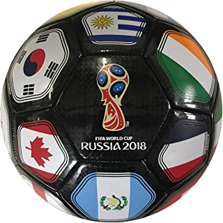 Icon Sports FIFA World Cup Russia 2018 Flag Ball Size 5 Black