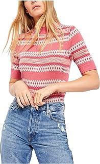 Free People Winter Warmer Sweater Bodysuit - Pink Combo