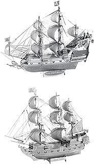 Fascinations ICONX 3D Metal Model Kits Set of 2 - Queen Anne's Revenge - Black Pearl