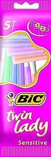 BIC Twin Lady Maquinillas de Afeitar Desechables para Mujer - Lote de 5 Packs de 5 unidades