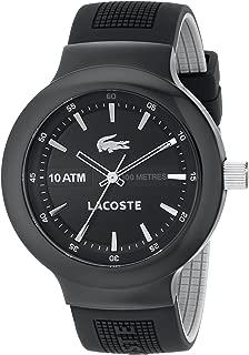 Lacoste Men's 2010657 Borneo Analog Display Japanese Quartz Black Watch