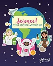 Science! STEM Sticker Adventure - Sticker Activity Book For Girls Aged 4 to 8 - Over 125 Stickers - Space Exploration, Dee...
