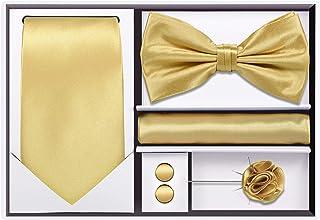 Amazonca Gold Bow Ties Cummerbunds Accessories Clothing