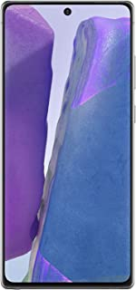 هاتف سامسونج جالكسي نوت 20 ثنائي شرائح الاتصال بذاكرة رام سعة 8 جيجا وذاكرة داخلية سعة 256 جيجا وتقنية الجيل الخامس- رمادي