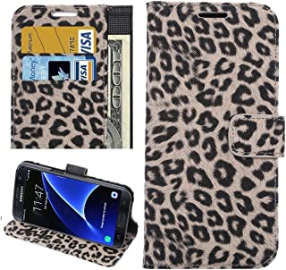 Protective Case Compatible with Samsung Compatible Samsung Galaxy S7 Edge/ G935 Leopard Texture Horizontal Flip Leather Case with Holder & Card Slots & Wallet Phone case (Color : Brown)