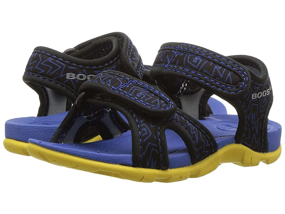Bogs Kids Whitefish 80s (Toddler) (Black Multi) Boys Shoes