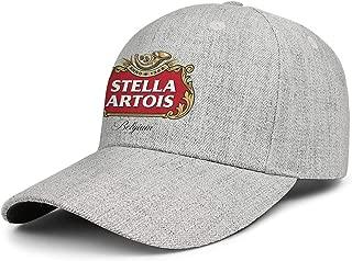 Women Men Baseball Cap Relaxed Sparkle Stella-Artois-Beer-Anno-1366- Adjustable Sandwich Baseball Cap Cowboy Hat