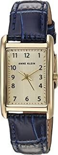 Women's Easy to Read Croco-Grain Leather Strap Watch, AK/3540