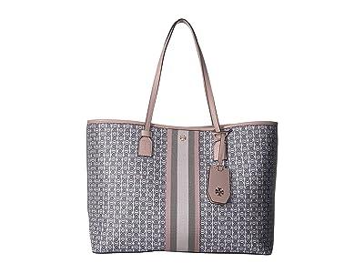 Tory Burch Gemini Link Canvas Tote (Coastal Pink) Handbags