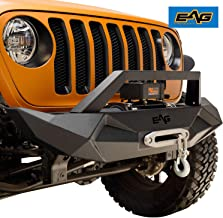 EAG Steel Front Bumper with Winch Plate Fit for 18-19 Jeep JL Wrangler