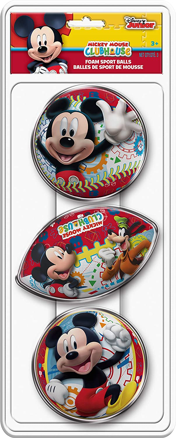Max 59% OFF Hedstrom 3-Pack Foam Sport Balls 53-5336 - Mickey Super sale Mouse