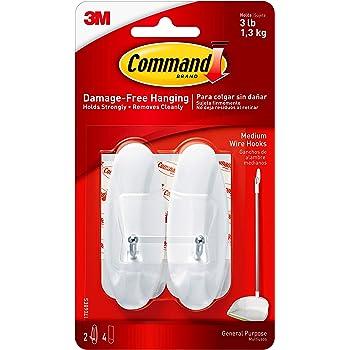 General Purpose Wire 3 hooks SHELFPULL Command Hooks